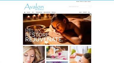 Avalon Spa and Salon | Website Design, Search Engine Optimization, Social Media Management, Content Management