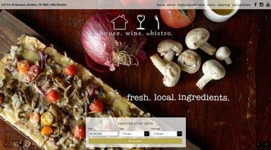 House Wine & Bistro | Website Design
