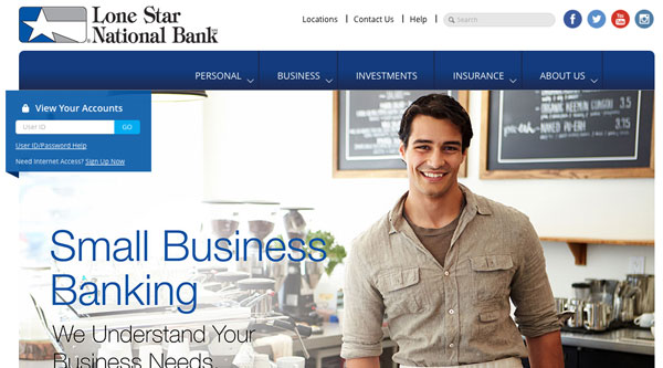 Lone Star National Bank | Website Design, Search Engine Optimization, Social Media Management, Content Management