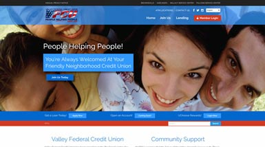 Valley Federal Credit Union | Website Design, Search Engine Optimization, Social Media, Content Management