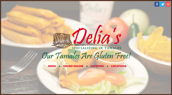 Delia's Tamales | Website Design, Search Engine Optimization, Social Media, Content Management